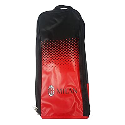 AC Milan Official Fade Football/Soccer Crest Shoe/Boot Bag (One Size) (Black/Red)