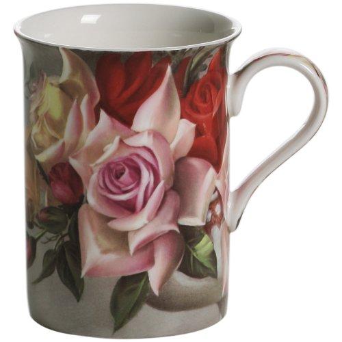 Maxwell & Williams S5688710 Royal Old England Becher, Kaffeebecher, Tasse, Motiv: Blumenstrauß, in Geschenkbox, Porzellan