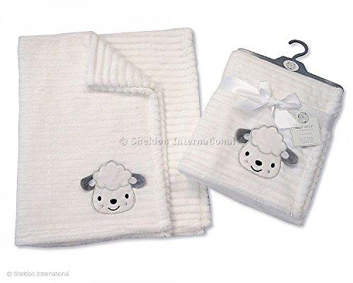 Blanc côtelé Supersoft 3d bébé – Mouton