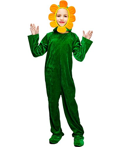 Kids Blooming Sunflower Green Plant Costumes (7-9Y)