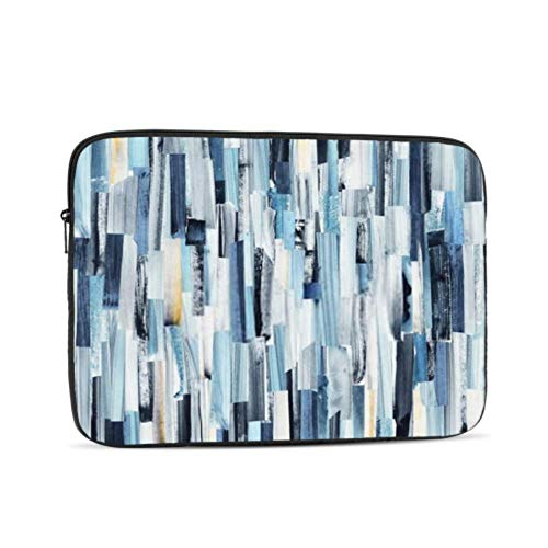 Laptop Sleeve Case 13 Inch Abstract Art Background Multicolor Stripes Teals Laptop Sleeve/Notebook Computer Pocket Case/Tablet Briefcase Carrying Bag