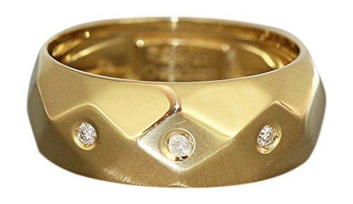 Hobra-Gold GOLDRING 750 M BRILLANTEN DAMENRING RING GOLD 18 KT BRILLANTRING RW 56 BANDRING