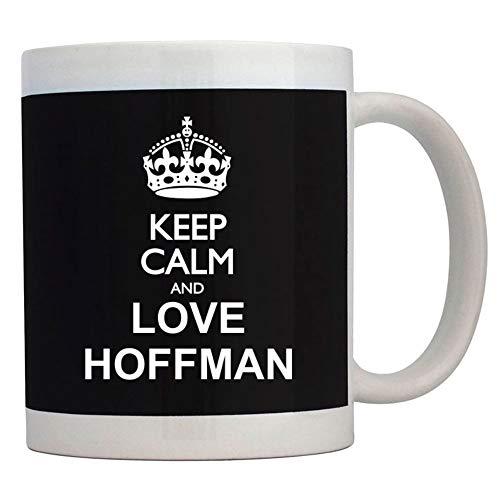 Teeburon Keep calm and love Hoffman Taza cerámica 11 onzas