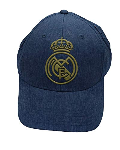 Real Madrid FC RM3GO20 Gorra Acero con Rejilla Adulto Ajustable Real Madrid-Vaquero/Oro-2019-2020, Adultos Unisex, Azul/Oro