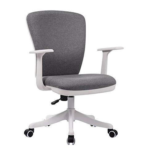 JIEER-C Vrijetijdsstoelen, bureaustoel, ergonomische netdraaistoel, zithoogte verstelbaar, lendensteun, bureaustoel, duurzaam, sterk dark gray