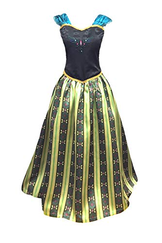 Cokos Novelty Adult Women Princess Coronation Dress Costume, 3XL, Olive Green