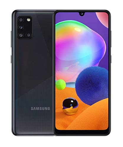 "Samsung Galaxy A31 - Smartphone 6.4"" Super AMOLED (teléfono 4GB RAM, 64GB ROM), Negro [Versión española]"