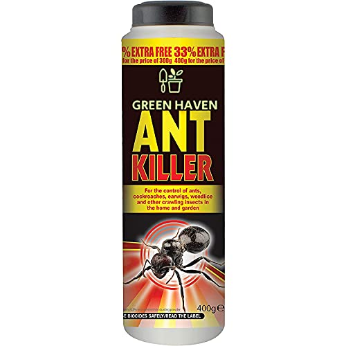 GREEN HAVEN Ultra-strong Ant Killer Powder in 400g | Dog Friendly Ant...