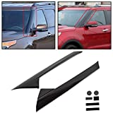 ECOTRIC A-Pillar Front Molding Windshield Outer Trim Inner Replacement for BB5Z-7803145-AA, BB5Z-7803137-AB W/Side Tape for 2011-2019 Ford Explorer 4 Door Utility (Left&Right)