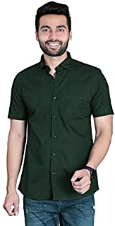 FifthAnfold Men Solid Casual Half Sleev Shirt