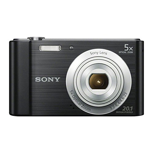 Sony DSCW800B.CEH Digital Compact Camera (20.1 MP, 5x Zoom, 2.7 LCD, 720p HD, 26 mm Sony G Lens) - Black