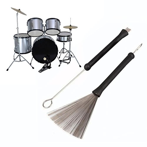 OFKPO 1 Paar Trommel Bürsten,Einziehbare Drum Bürsten mit Gemütlich Gummigriffe