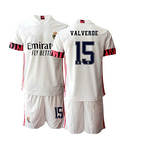 JEEG 20/21 Herren Valverde 15# Fußball Trikot Fans Jersey Trainings Trikots (S)