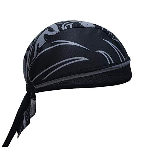 X-Labor Unisex Bandana Cap Atmungsaktiv UV Schutz Kopftuch Bikertuch Fahrrad Radsport MTB Kopfbedeckung schwarz