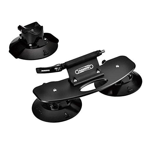 didatecar portabicicletas Tipo Ventosa para 1 Bicicleta, aleación de Aluminio, portabicicletas para Techo de Coche