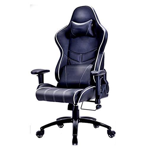 FTFTO Silla para Juegos Office Life Silla ergonómica para Oficina en casa Respaldo Alto Ajustable Giratorio