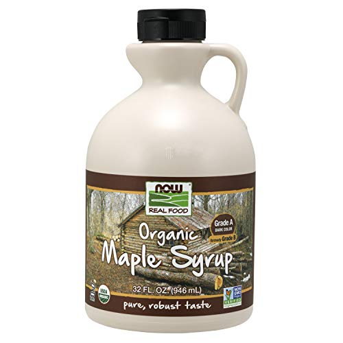 pure maple syrups NOW Foods Organic Maple Syrup,Grade A Dark Color, 32-Ounce