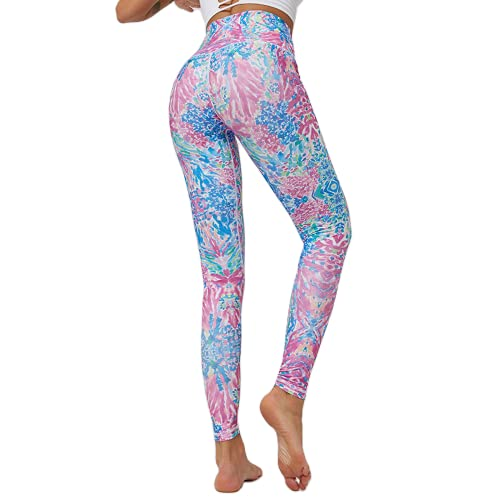 Pantalones de Yoga Transpirables y de Secado rápido Leggings elásticos de Cintura Alta Leggings Deportivos para Correr al Aire Libre N XL