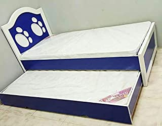 RAN-KDBD-1003 Kids Single Bed with Storage, Blue - 90 x 190 cm