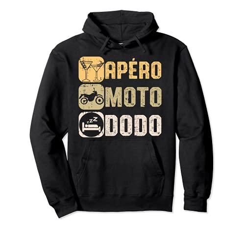 Apéro Moto Dodo Humour Bière Motard Homme Femme Cadeau Sweat à Capuche