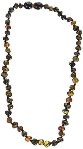 Momma Goose Baroque Teething Necklace, Dark Cherry, Small/11-11.5'