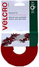 "VELCRO Brand - Holiday Garland Ties - 30' x 1/2"" Roll - Red"