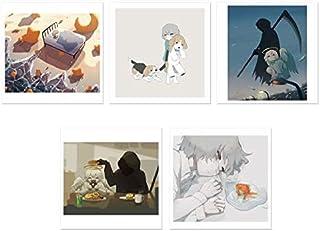 アボガド6 ポストカード 5種類 5枚セット 展示 Art Gallery 肉眼 限定 夜が引いてく やきもち 薄明 ○ 上手く生きれないね