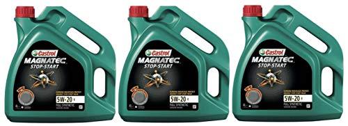 Castrol Magnatec Start-Stop 5W-20 E Synthetische Motorolie, 12 liter