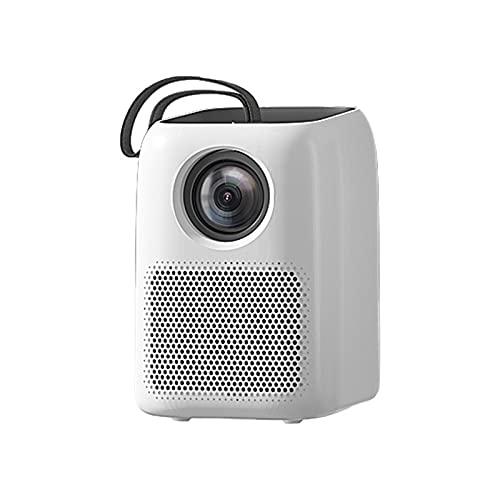 SDFD Proyector de Dormitorio para el hogar, proyector portátil de Ultra Alta definición para teléfono móvil Proyector de Altavoz magnético Fuerte de bajo Ruido, Adecuado para reuniones Familiares