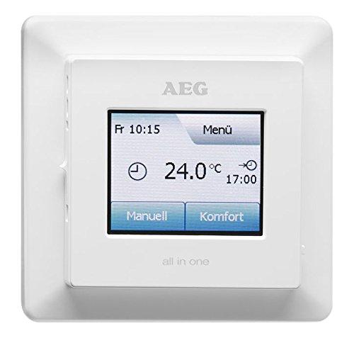 AEG Fußboden- und Raumtemperatur-Regler FRTD 903 TC, Touchscreen mit Farbdisplay, Komfort-Eco-Modus, Wochenprogramme, 233919