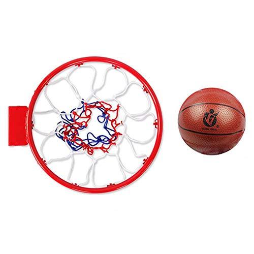 SUON Basketballständer Basketballnetz-Set Innen Draussen Hängend Kind Basketballkorb Mit Ball Und Pumpe An Der Wand Montiert Kinder Basketball-Korb 30cm