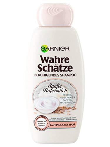 Garnier Wahre Schätze Beruhigendes Shampoo Sanfte Hafermilch, pflegt, schützt und beruhigt, für empfindliches Haar (250 ml)