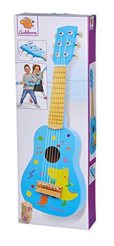 Eichhorn 100003480 Musik Holzgitarre stimmbare Gitarre aus Holz mit sechs Saiten, mit süßem Tiermotiv, 54 cm lang, ab DREI Jahren