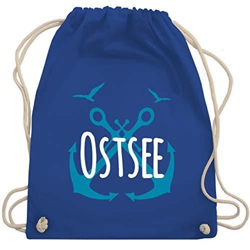 Shirtracer Statement - Ostsee - weiß - Unisize - Royalblau - Spruch - WM110 - Turnbeutel und Stoffbeutel aus Baumwolle