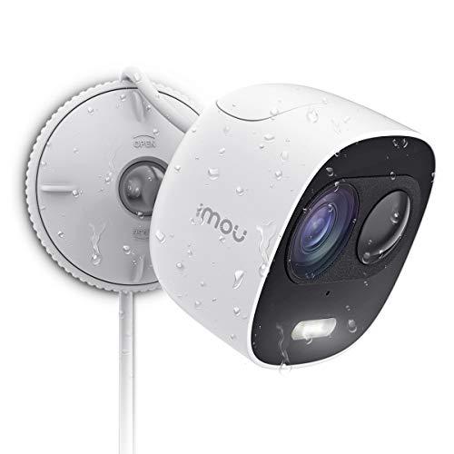 Imou Cámara de Vigilancia WiFi Exterior, Cámara IP WiFi 1080P IP65 Impermeable, Discuasión Proactica con Luces y Sonidos de Alarma, Visión Nocturna PIR Sensor, Compatible con Alexa y Google Home
