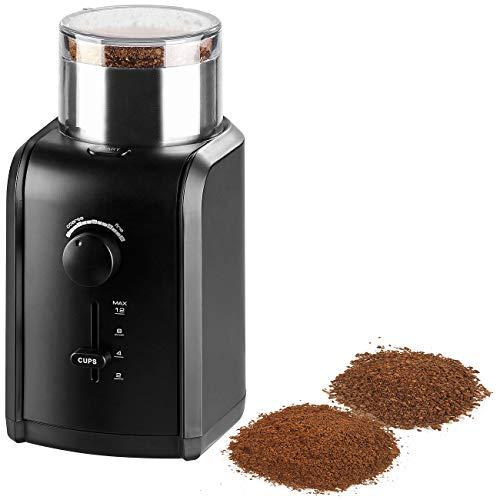 Rosenstein & Söhne Kaffeemühle: XXL Kaffee- & Gewürzmühle, Schlagmahlwerk, 200W, bis 70g, 5 Mahlgrade (Elektrische Kaffeemühle)
