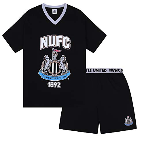 Newcastle United FC Official Gift Mens Loungewear Short Pajamas Large