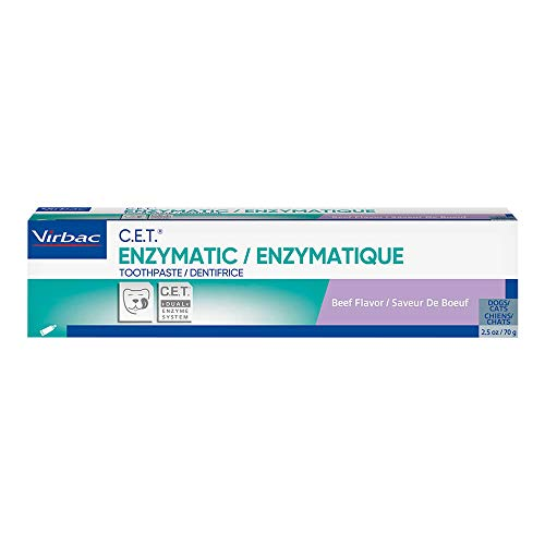 CET Virbac Plaque Tartar Control Enzymatic Dog and Cat Toothpaste 25 oz Beef
