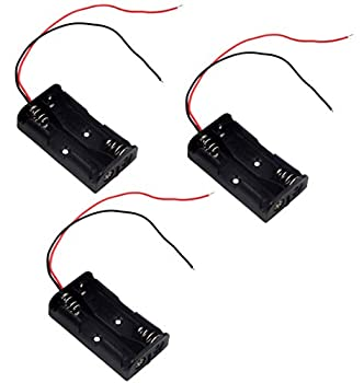 LAMPVPATH  Pack of 3  2 AA Battery Holder 2 AA Battery Holder with Leads 2 AA Battery Holder with Wires