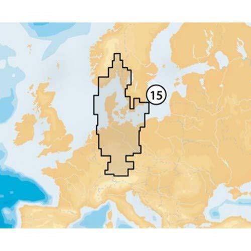 Navionics Platinum+ Seekarte (Large/XL3) Region Europa, Medium CF-Karte, Abdeckungsbereich 15P+ - Oslo bis Deutschland