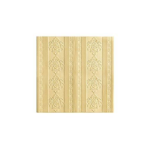 3D Selbstklebende Tapeten TV-Hintergrund-Wand Stil Wohnzimmer Schlafzimmer Soft Paket Wand Renovierung (Color : Yellow)