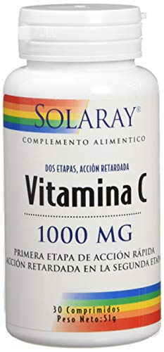 Solaray Vitamin C 1000mg | Acción Retardada | 30 Comprimidos