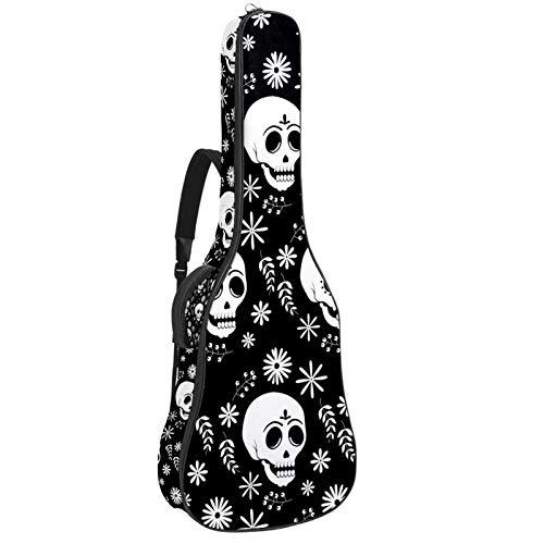 Bolsa para guitarra eléctrica acústica con diseño de calavera de azúcar de...