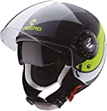 Caberg CASCO RIVIERA V3 SWAY MATT ANTHRACITE/BLACK/YELLOW FLUO M