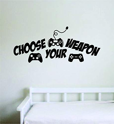 """Vinyl-Wandaufkleber """"Choose Your Weapon V2"""" für Schlafzimmer, Wohnzimmer, Dekoration, Teen-Zitat, inspirierender Junge, Mädchen, Gamer, Videospiele, Retro, Oldschool Controller, cooler PC"""