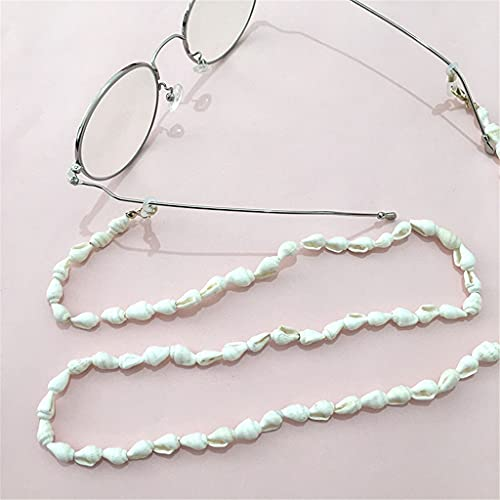 GYZX Tenedor de la Cadena de Gafas para Las Mujeres Cáscara Natural de cordón de Lanyard Correa Gafas de Sol Cordones Casuales Gafas Accesorios (Color : A, Size : Length-70CM)