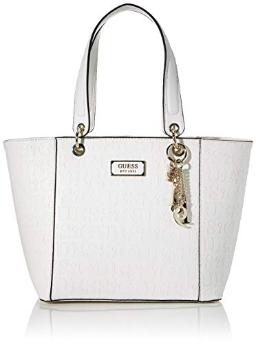 Guess Kamryn, Bolso tipo tote para Mujer, Blanco (White), 15x27x42 Centimeters (W x H x L)