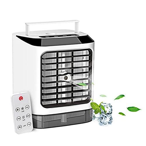Mini Aires Acondicionados Aire refrigeración USB portátil de 3 velocidades de Viento de 7 Colores LED para Oficina,