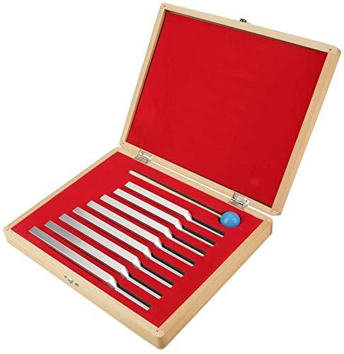 CNMGM 8 Tuning Gabel Instrumente Set, Aluminium Medical Grade Tuning Energy Gabeln, Mit Holzkiste Und Holzhammer, Für Musikphysik-Klassen Gesundheitswesen Massage-Tool