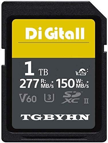 TGBYHN Digital 1024GB Series SDXC UHS-II Memory Card, V90, CL10, U3, Max R300MB/S, W299MB/S (250MB-1TB)